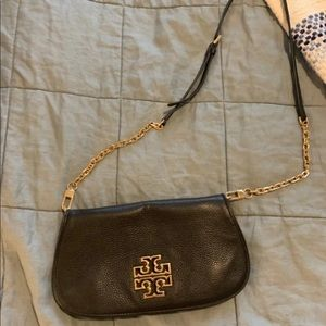 Black leather Tory Burch purse